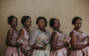 Bridesmaids in Blush Lace | Credit: Thunder & Love