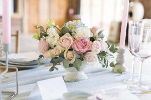 Pastel Wedding Centerpiece | Credit: Jack & Jane Photography