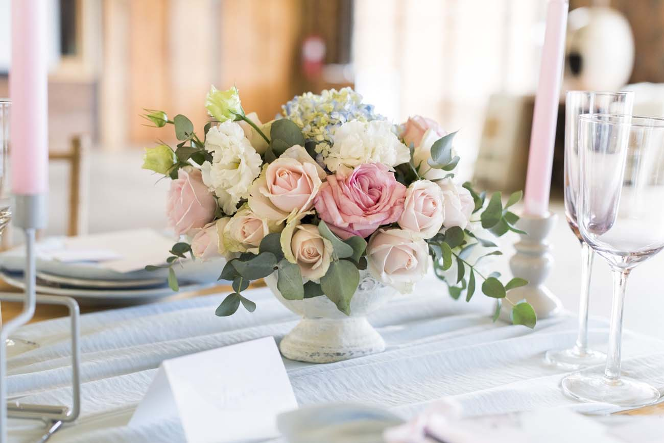 Pastel Wedding Centerpiece | Credit: Jack & Jane Photography