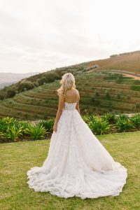 Convertible Two-piece Anna Georgina Wedding Gown | Credit: Kikitography