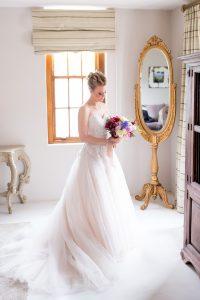Bride in Romantic Tulle Gown | Credit: Cheryl McEwan