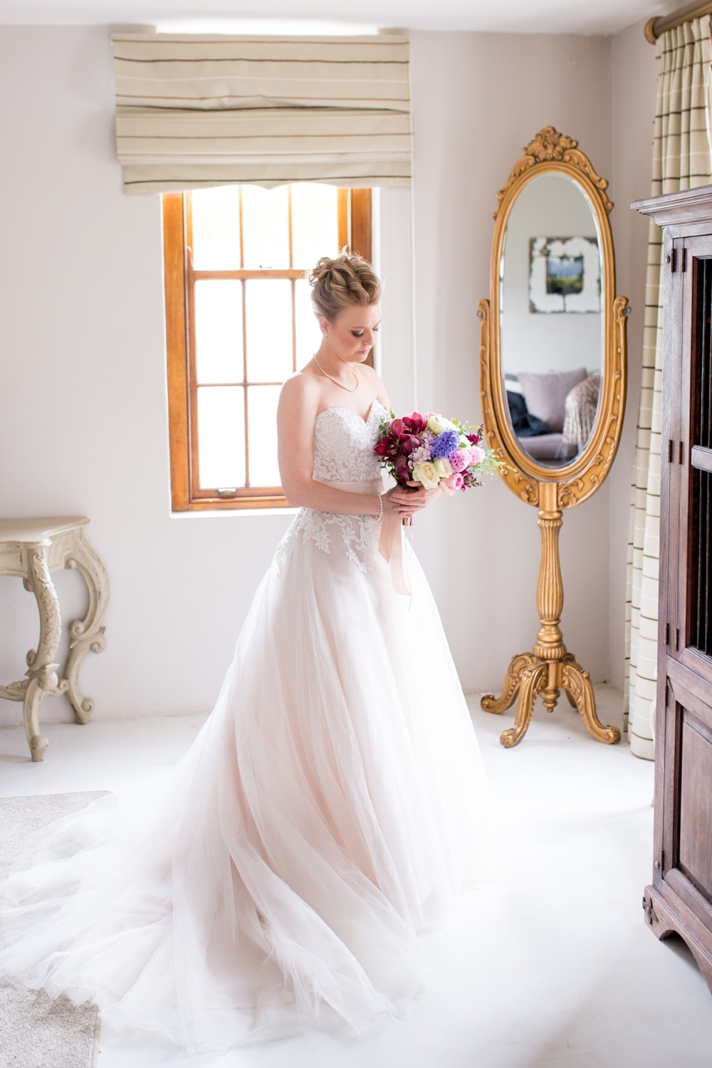 Bride in Romantic Tulle Gown | Credit: Cheryl McEwan