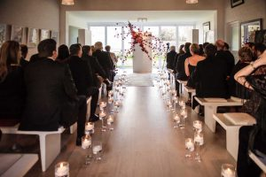 Modern Ceremony Decor | Credit: Vizion Photography