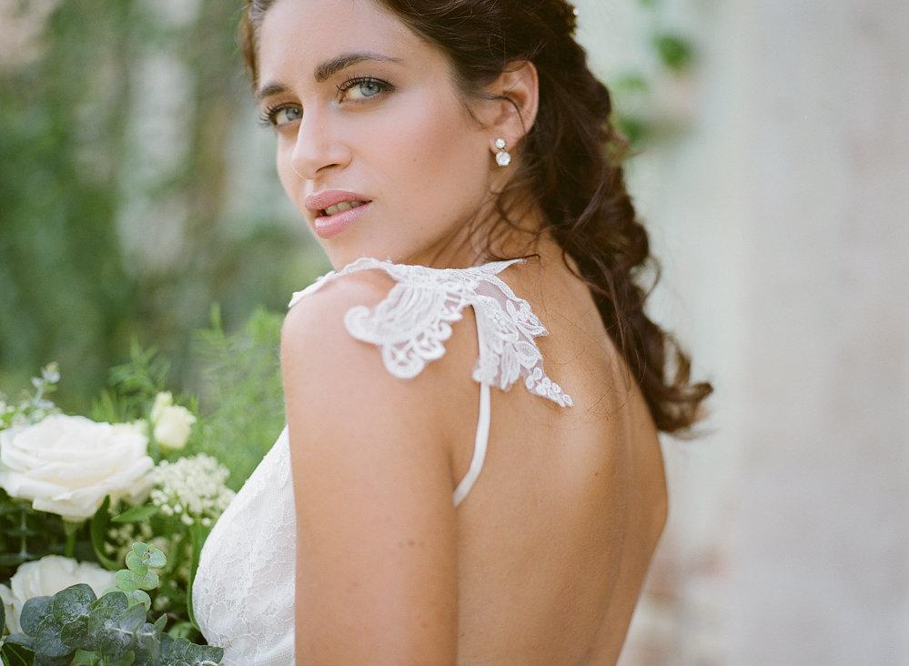 Claire Pettibone Strap Shoulder Detail | Credit: Magnolia & Magpie Photography
