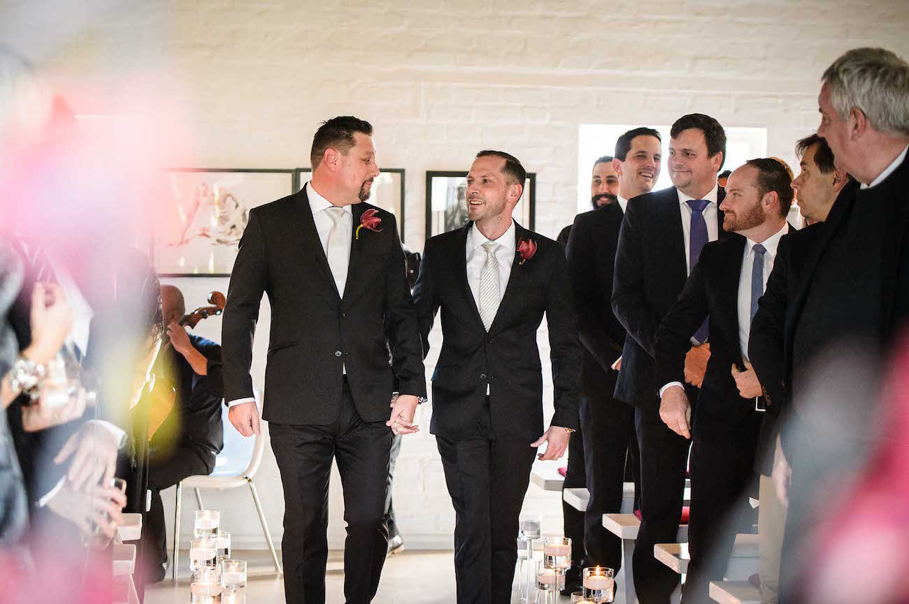 Colourful Glamorous Same Sex Wedding   Credit: Vizion Photography
