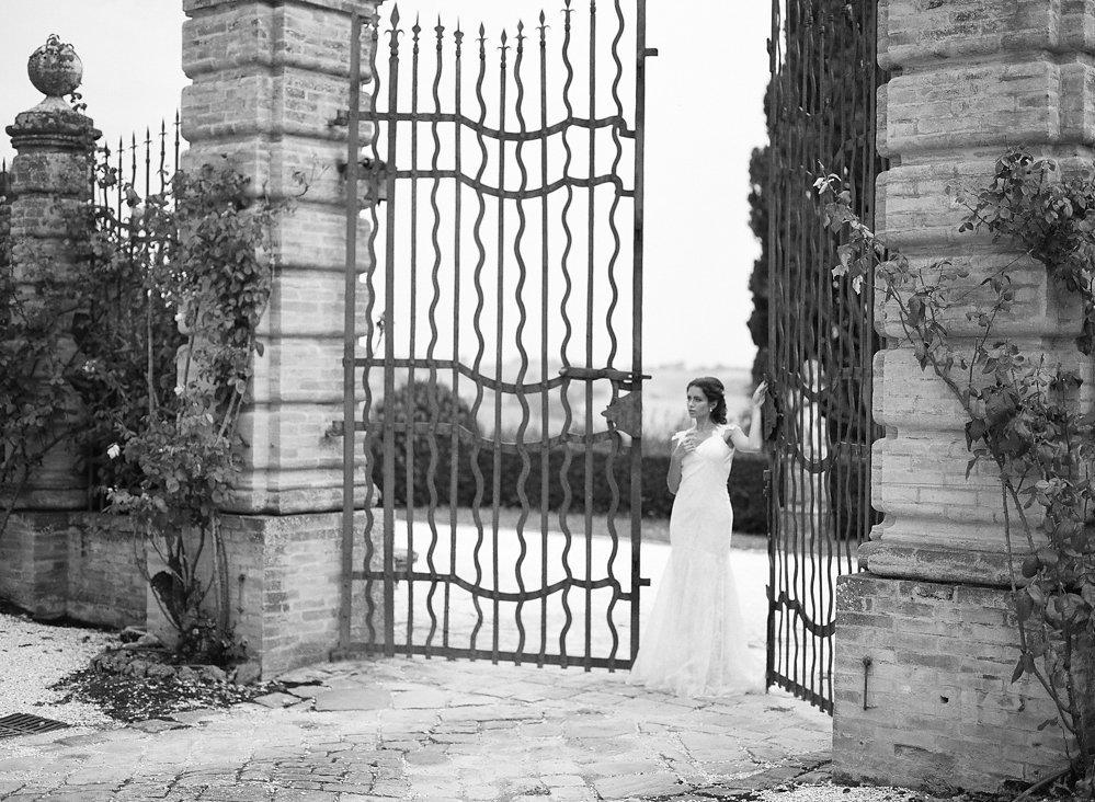Ornate Gate at Italian Estate | Credit: Magnolia & Magpie Photography