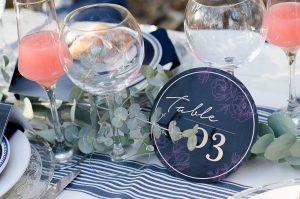 Denim Blue Wedding Decor | Credit: MORE Than Just Photography