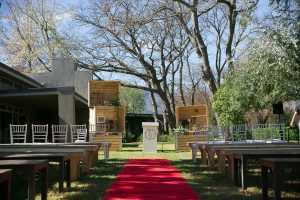Rustic Wedding Ceremony Decor | Credit: Karina Conradie