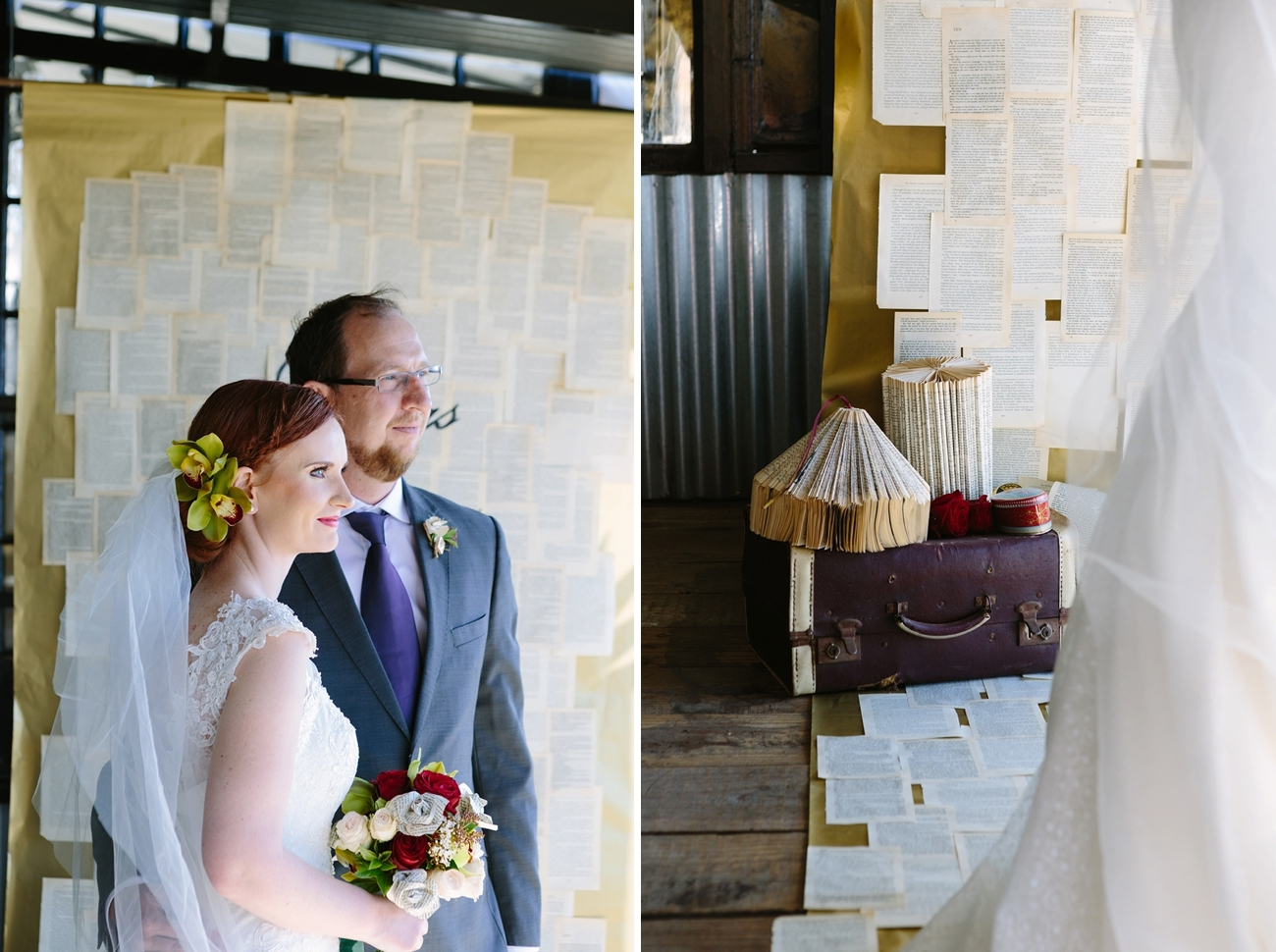 Literature Themed Wedding Ceremony | Credit: Andries Combrink & Runaway Romance