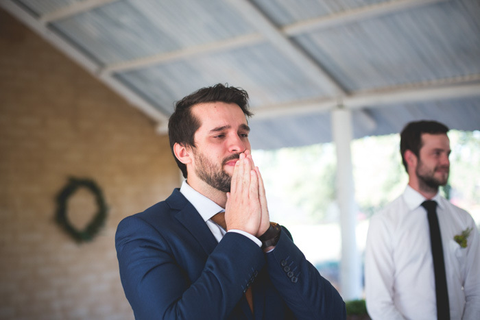 Emotional Groom at Ceremony   Credit: Those Photos