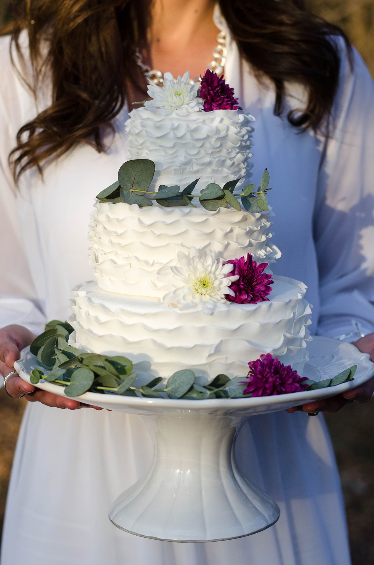 Ruffled Wedding Cake | Credit: MORE Than Just Photography