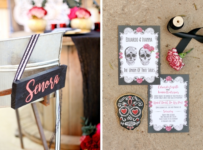 Senora Calligraphy Chair Sign | Credit: Hello Love Photography