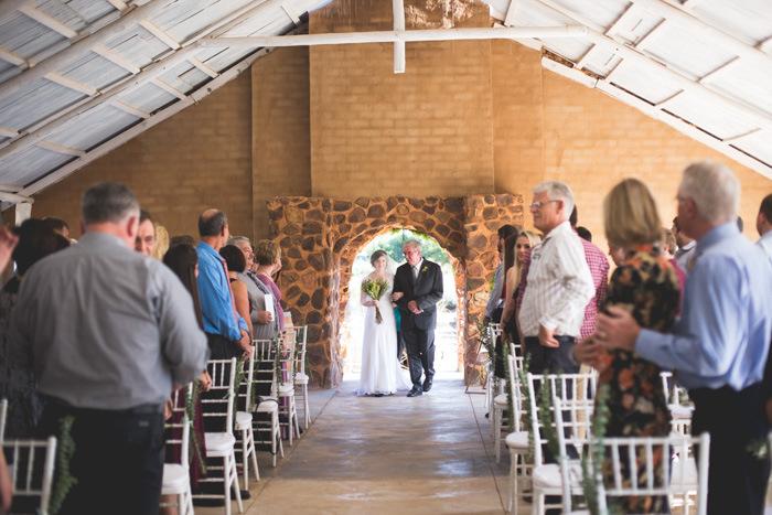 Autumn Greenery DIY Wedding Ceremony | Credit: Those Photos