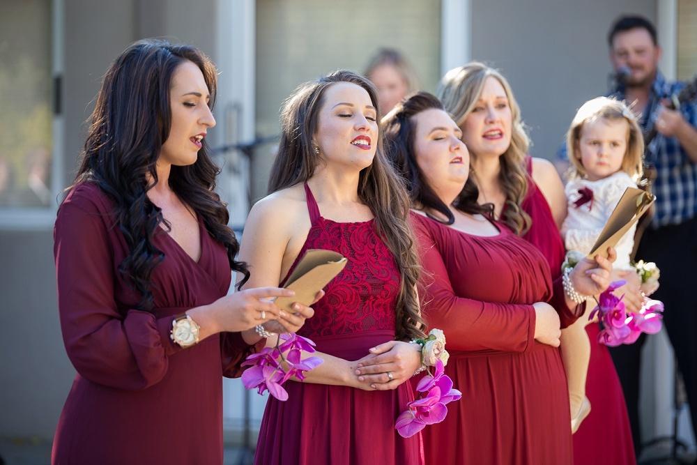 Bridesmaids at Ceremony | Credit: Karina Conradie