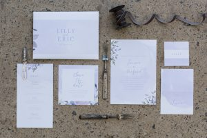 Watercolor Wedding Invitation | Credit: Jack & Jane Photography