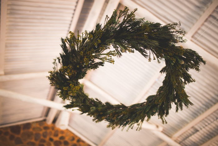 Hanging Greenery Wreath | Credit: Those Photos