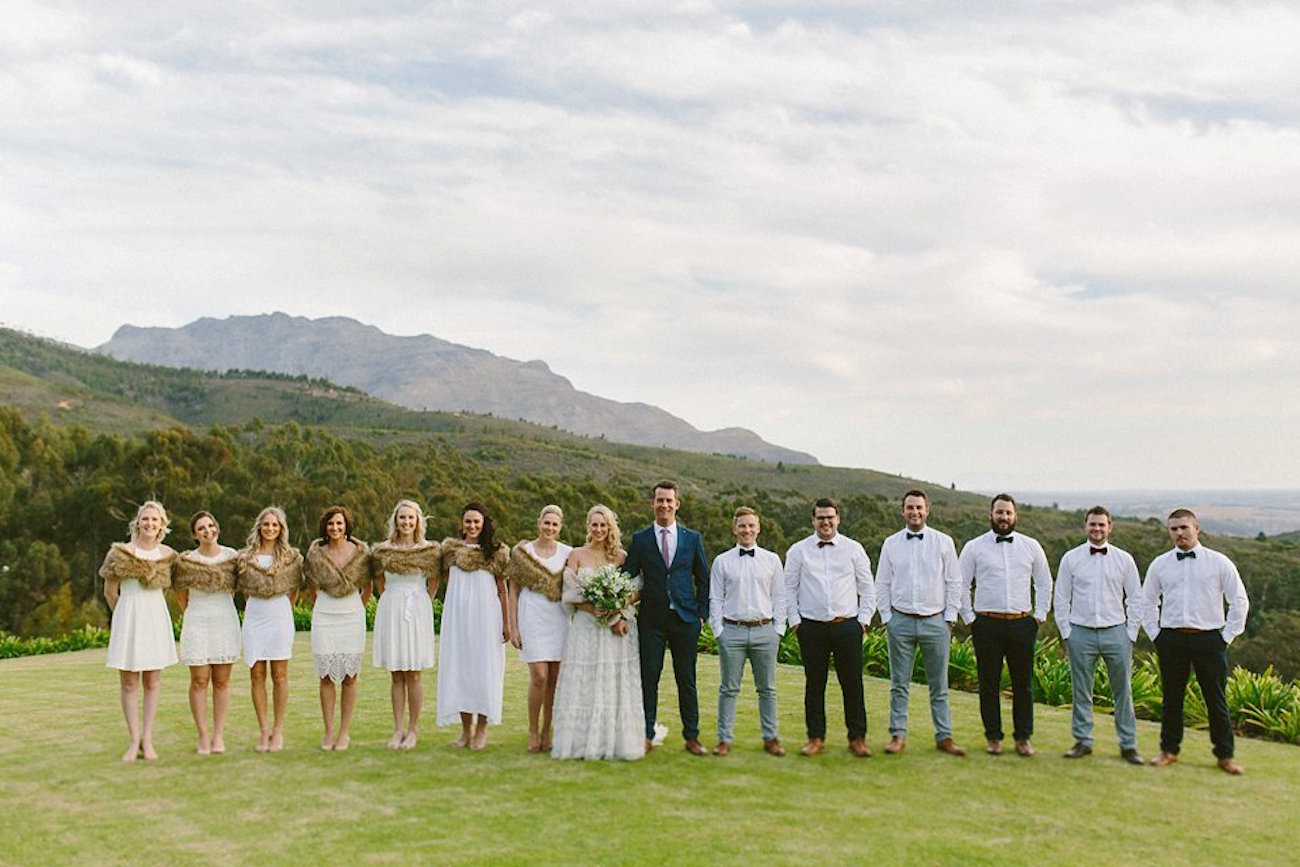 Vineyard Wedding Party | Credit: Kikitography