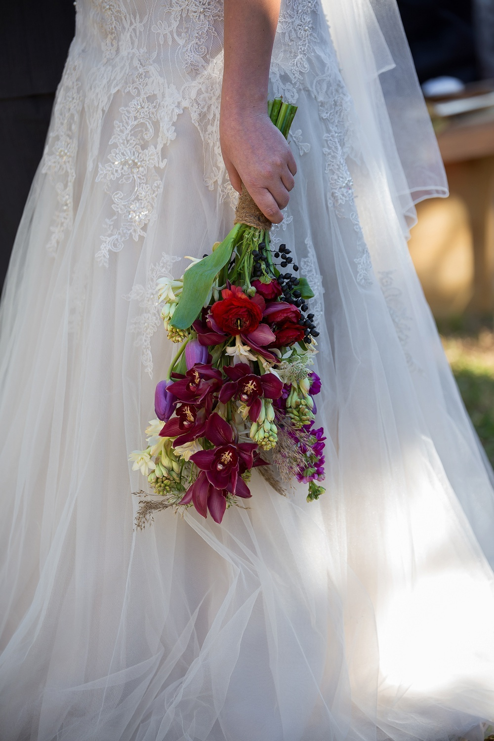 Jewel Tone Wedding Bouquet | Credit: Karina Conradie