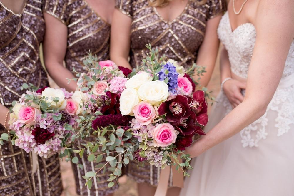 Rose Gold Sequin Bridesmaid Dresses | Credit: Cheryl McEwan