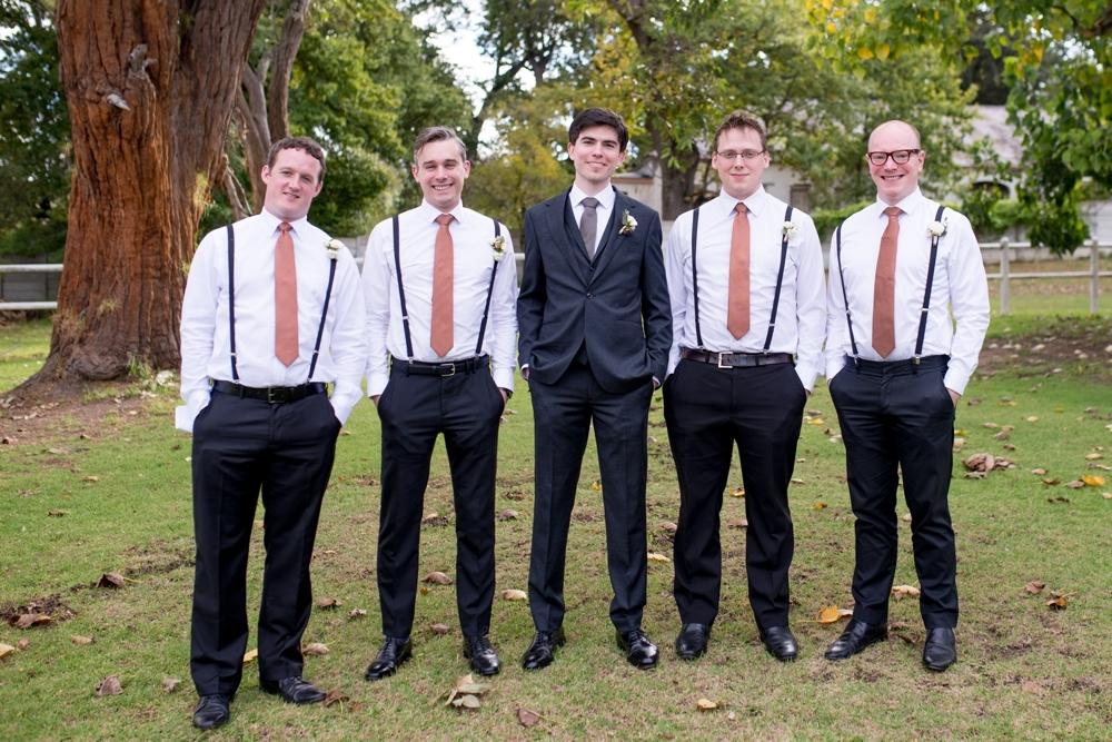 Groomsmen in Braces | Credit: Cheryl McEwan