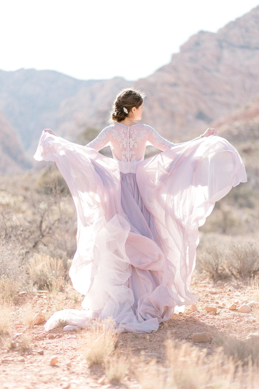 Ethereal Color Wedding Dress