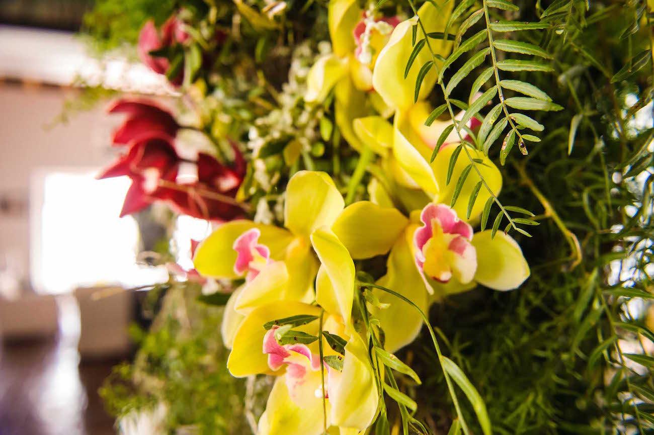 Orchid Wedding Decor   Credit: Vizion Photography