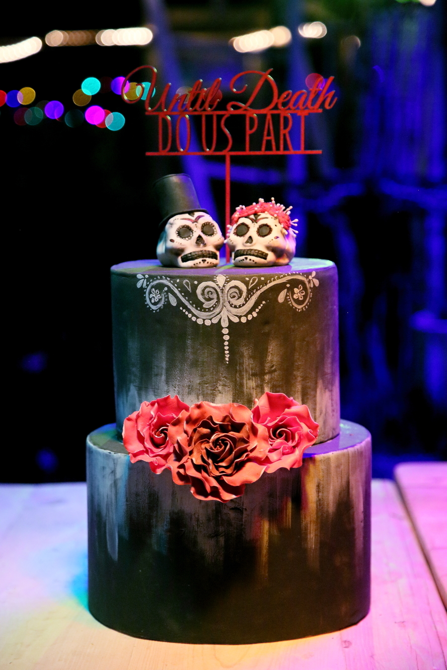Gothic Wedding Cake | Credit: Hello Love Photography