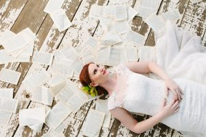 Bride with Book Pages | Credit: Andries Combrink & Runaway Romance