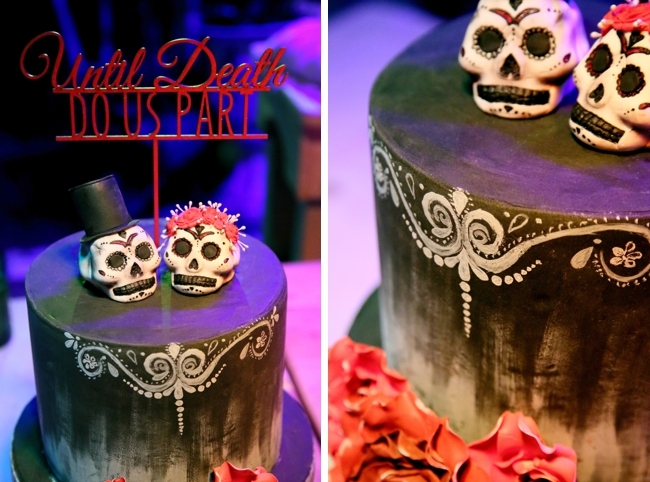 Gothic Wedding Cake Topper | Credit: Hello Love Photography