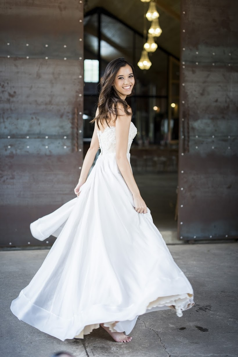Janita Toerienc Wedding Dress with Full Skirt | Credit: Jack & Jane Photography