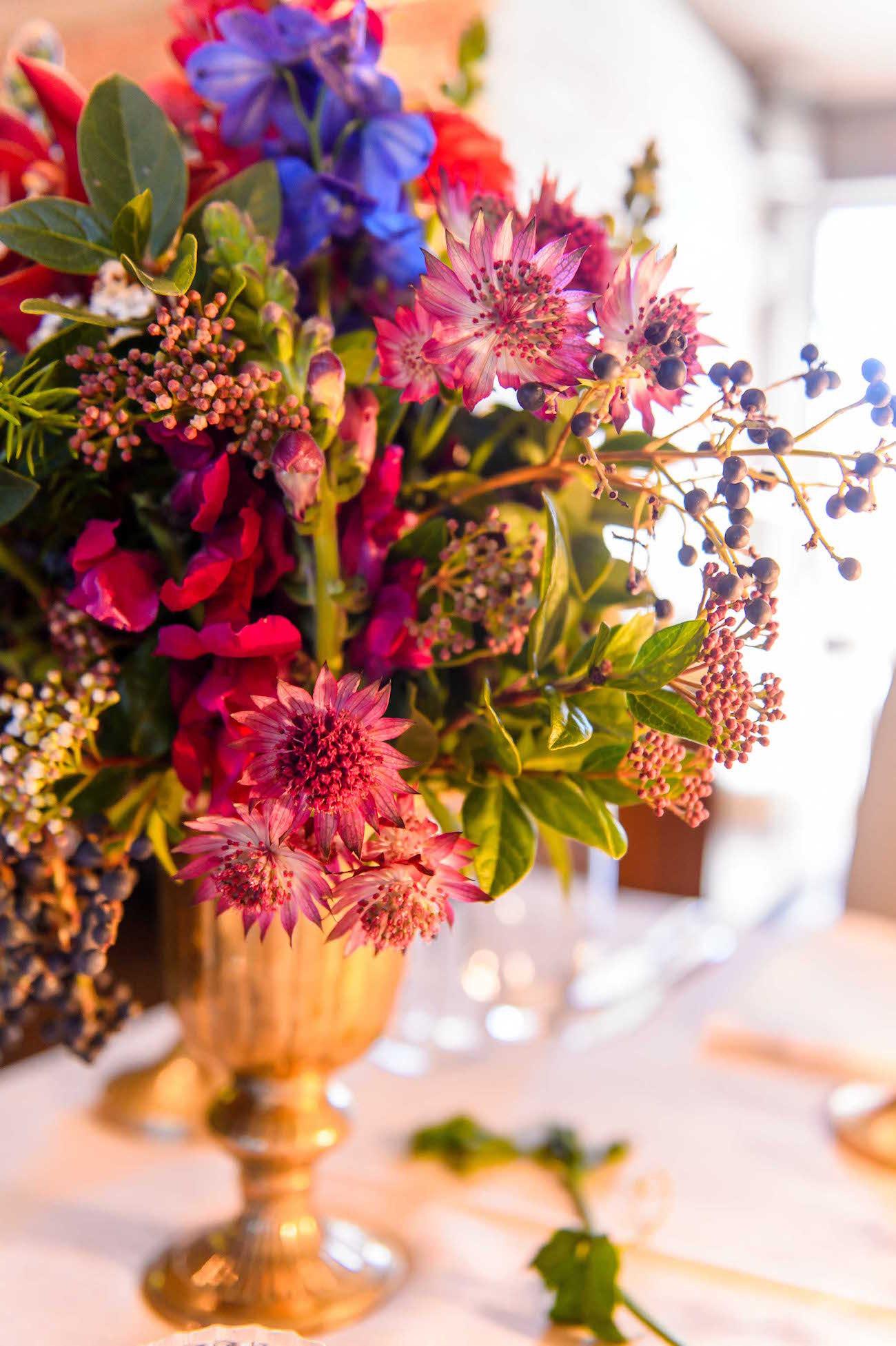 Colorful Opulent Florals   Credit: Vizion Photography