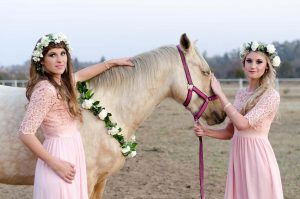 Bridesmaids with Horse | Credit: MORE Than Just Photography