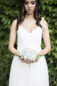 Bride with Hydrangea   Credit: Jack & Jane Photography