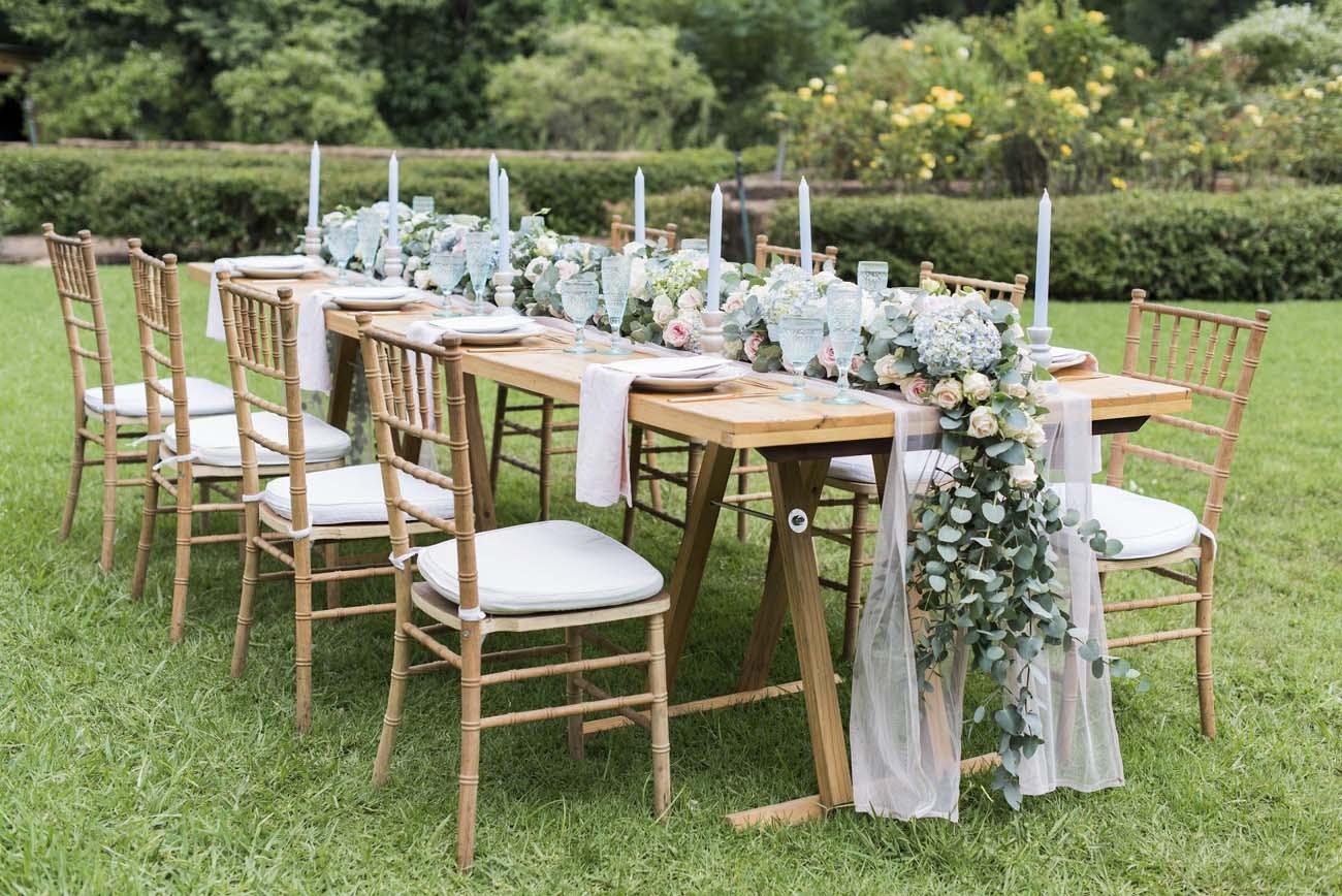 Pantone Serenity & Rose Quartz Wedding Tablescape   Credit: Jack & Jane Photography