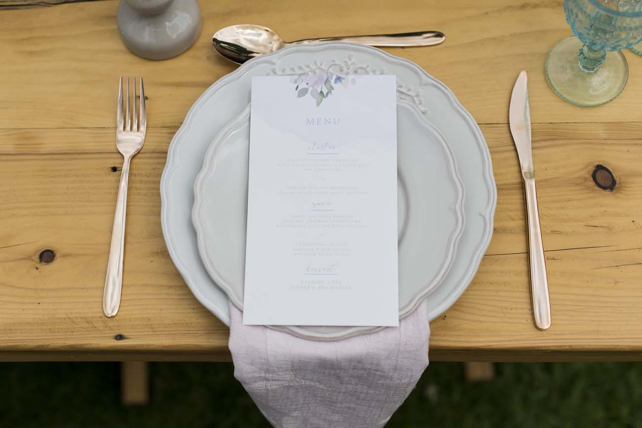 Modern Vintage Place Setting | Credit: Jack & Jane Photography