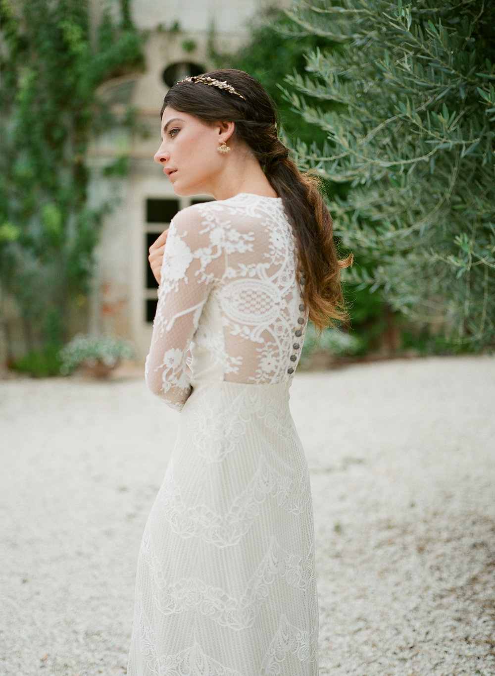 Lace Sleeve Claire Pettibone Dress | Credit: Magnolia & Magpie Photography