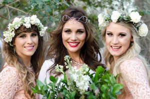 Boho Bride and Bridesmaids | Credit: MORE Than Just Photography
