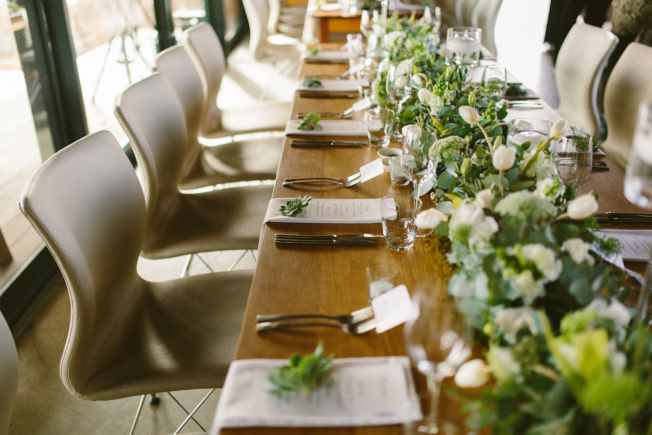 Greenery Table Decor | Credit: Kikitography