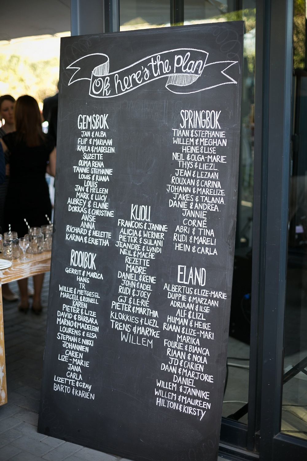 Chalkboard Table Plan | Credit: Karina Conradie