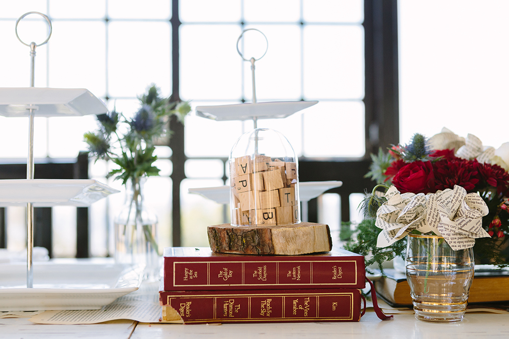 Scrabble Centerpiece | Credit: Andries Combrink & Runaway Romance