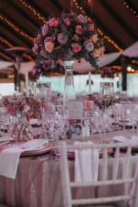 Tall Rose Wedding Centerpiece | Credit: Thunder & Love