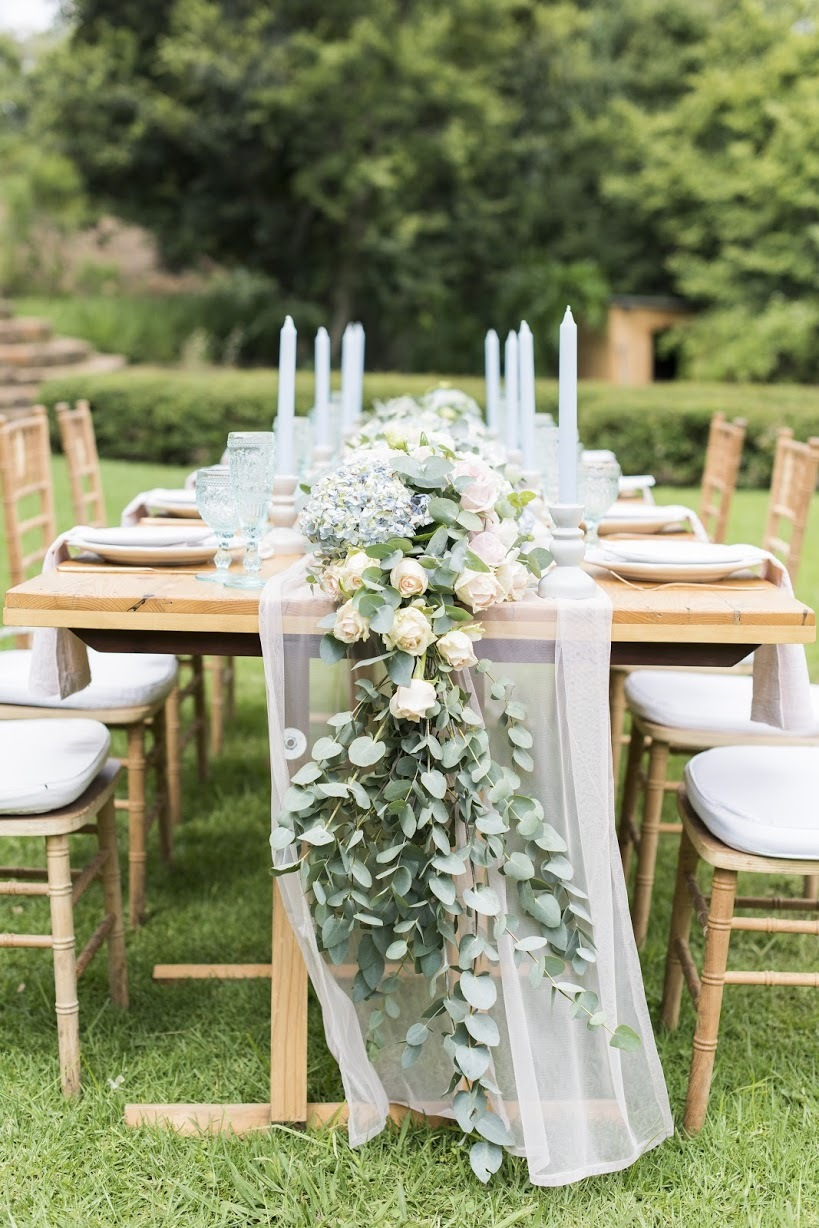 Table with Floral Runner | Credit: Jack & Jane Photography