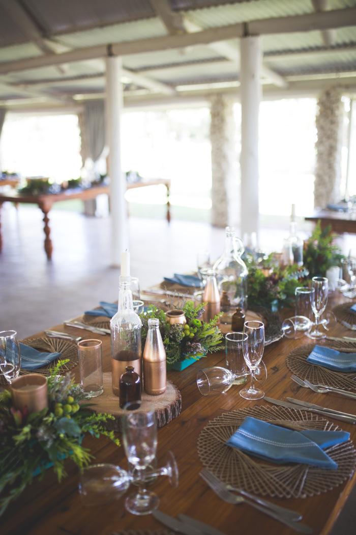 Autumn Greenery DIY Wedding Tablescape   Credit: Those Photos