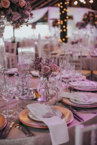 Luxe Blush and Copper Tablescape | Credit: Thunder & Love