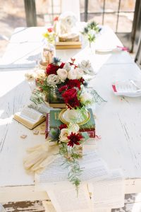 Book Themed Wedding Table Runner | Credit: Andries Combrink & Runaway Romance