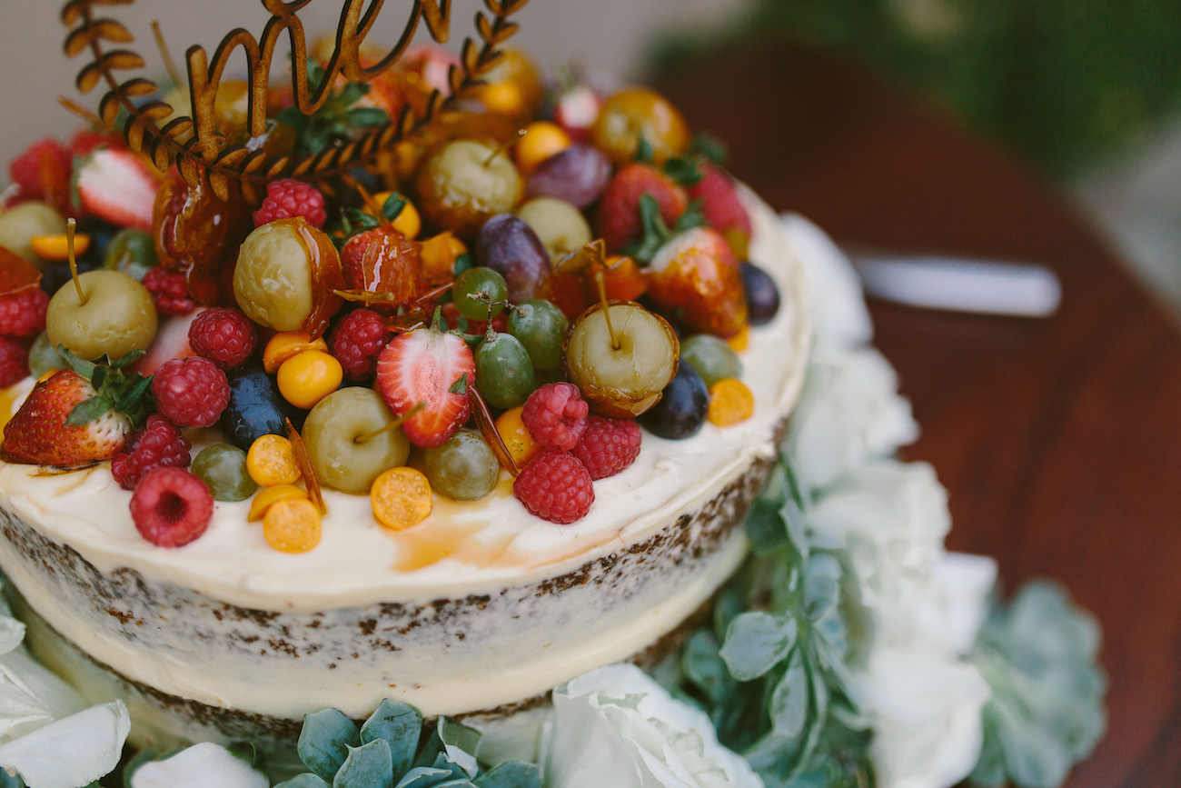 Naked Cake with Fruit Topping | Credit: Kikitography