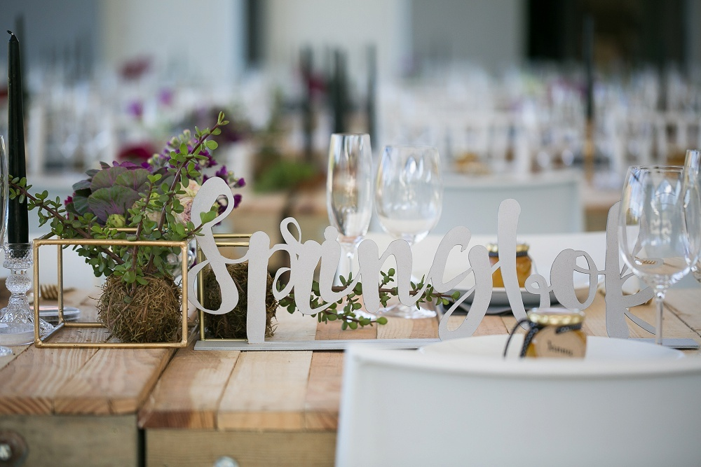 Laser Cut Table Names | Credit: Karina Conradie