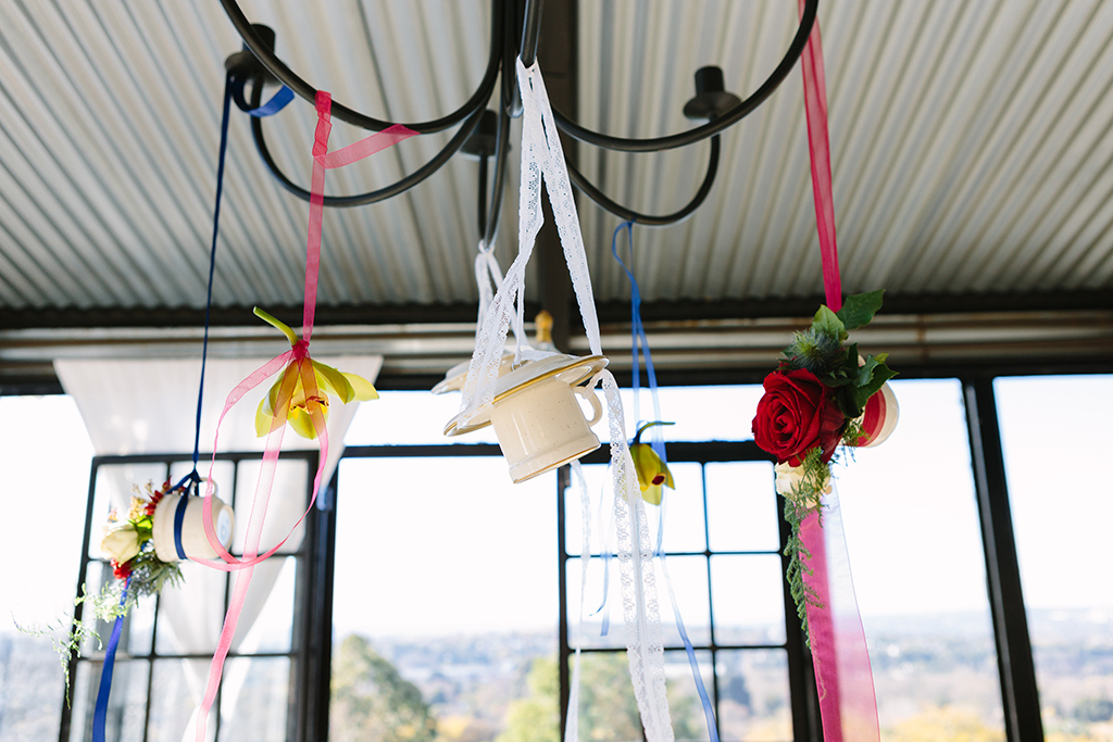 Alice in Wonderland Hanging Teacup Decor | Credit: Andries Combrink & Runaway Romance