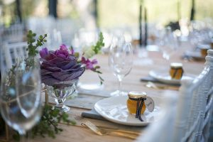 Winter Rustic Glamour Wedding Tablescape | Credit: Karina Conradie