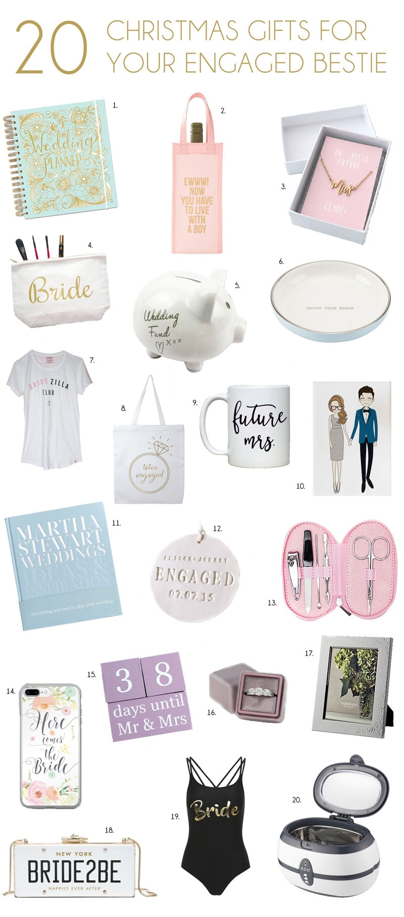 Engagement Gifts for Your Best Friend